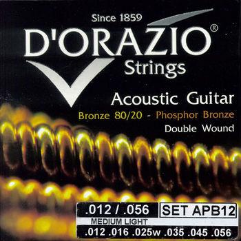 義大利手工製 DORAZIO 雙纏繞 木吉他弦(No.APB12)