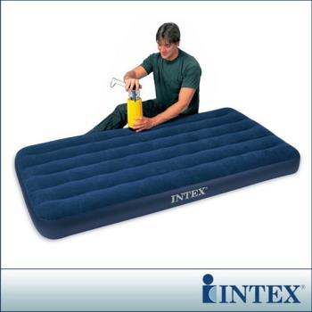【INTEX】單人加大植絨充氣床墊(寬99CM) (68757)