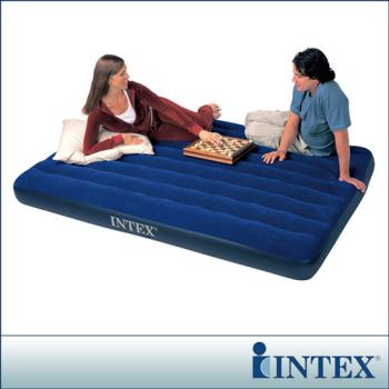 【INTEX】雙人加大植絨充氣床墊 (寬152cm)  (68759)