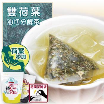 《台灣茶人》双荷葉油切分解茶3角立體茶90包(纖盈系列)