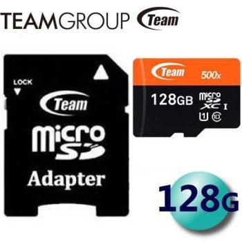 Team 十銓 128GB 80MB/s microSDXC TF UHS-I C10 記憶卡