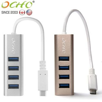 OCHO USB3.1 TYPE-C to USB3.0 4-Port HUB高速集線擴充器-MLG-9314UH