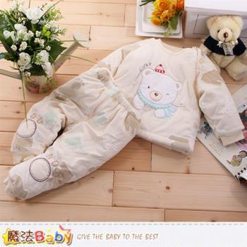 魔法Baby 嬰幼兒套裝 加厚鋪棉極暖寶寶禦寒套裝~k60051