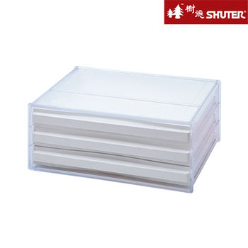 【樹德SHUTER】三層橫式桌上資料文件櫃