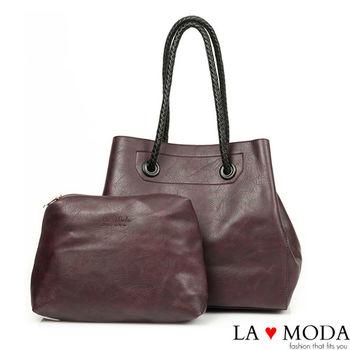 La Moda 品牌專屬系列 藤編設計子母托特包 (三色)