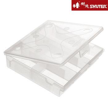 【樹德SHUTER】風格小文具方收納盒-附隔片 (4入組) -透明