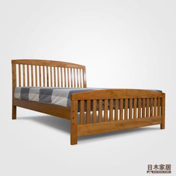 【日木家居】Pat帕特雙人5尺實木床台/床架