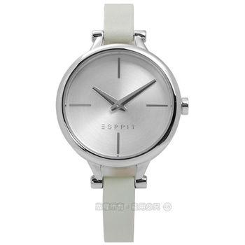 ESPRIT / ES109102004 / 簡約典雅細緻真皮腕錶 銀x灰 32mm