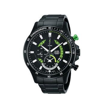 【ALBA】炫彩夜光個性腕錶-神秘黑 (YM92-X257G/AF8S81X1)