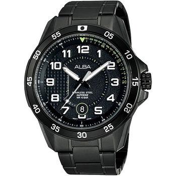 【ALBA】極速方程式時尚腕錶-IP黑/45mm(VJ42-X075SD/AS9505X1)