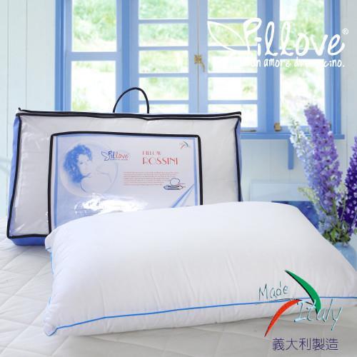 R.Q.POLO pillove 歐盟醫學枕蘿絲妮枕/釋壓支撐/枕芯枕頭/義大利製造(1入)