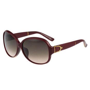 GUCCI-皮帶系列 太陽眼鏡(紅色)
