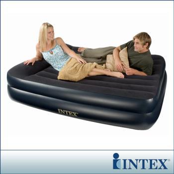 【INTEX】舒適雙層-雙人加大充氣床-寬152cm (66720)