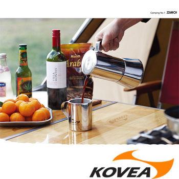 【韓國KOVEA露營戶外用品】PC義式咖啡壺2-3人份(KN8CK0204-銀色)