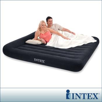 【INTEX】《舒適型》雙人特大植絨充氣床墊(寬183cm)-有頭枕 (66770)