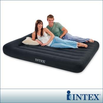 【INTEX】《舒適型》雙人加大植絨充氣床墊(寬152cm)-有頭枕 (66769)