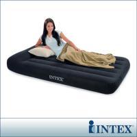 INTEX~舒適型~單人加大植絨充氣床墊 寬99cm ~有頭枕  66767 ~行動