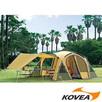 【韓國KOVEA露營戶外用品】奧貝歐 4人家庭帳-鋁合金(綠黃色-KM8CO0103)