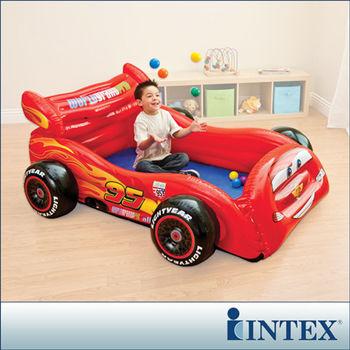 【INTEX】迪士尼卡通CARS汽車造型球池/遊戲池(附10顆彩球) (48668)