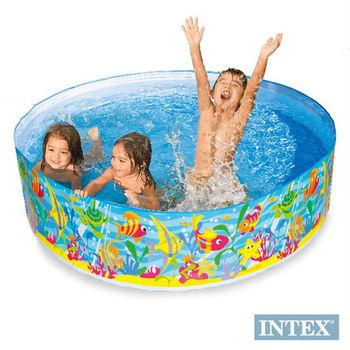 【INTEX】免充氣幼童戲水游泳池(直徑183cm)海洋世界 (56452)
