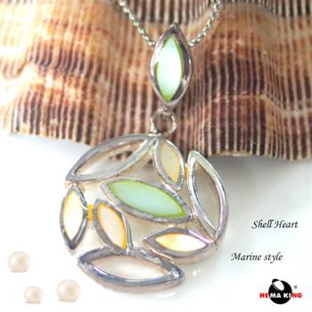 【HEMAKING】純銀天然貝殼葉子項鍊