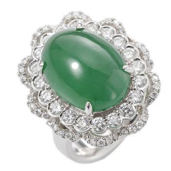 【絕世精品】Dolly 華麗典藏頂級陽綠冰種美鑽戒