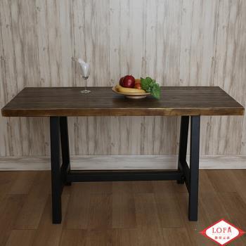 【微量元素】手感工業風原木長方桌
