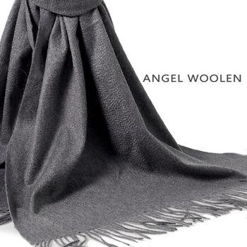 【ANGEL WOOLEN】CASHMERE厚披肩(黑色)