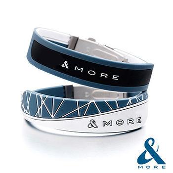 &MORE愛迪莫鈦鍺『X-Force極限』負離子運動手環(元素藍)