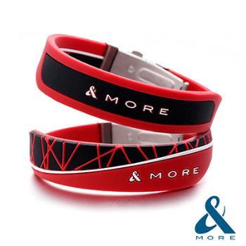 &MORE愛迪莫鈦鍺『X-Force極限』負離子運動手環(生命紅)