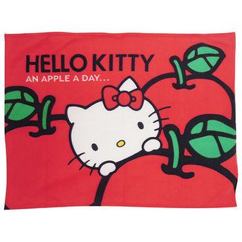 【Hello Kitty】蘋果多多 刷毛毯