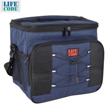【LIFECODE】歐風保冰袋-藏青色 /保溫袋 /保冷袋 /便當袋