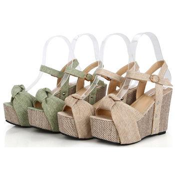 【Alice 】羅馬魅力 波西米亞編織楔型跟涼鞋