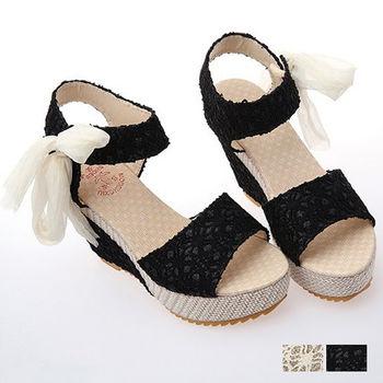 【Alice 】夏日必買增高撞色楔型跟涼鞋