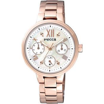 CITIZEN WICCA 單身女郎時尚優質腕錶-白貝+玫瑰金-BH7-521-11