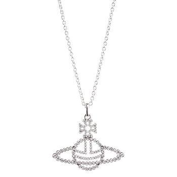 【Vivienne Westwood】星球高雅晶鑽項鍊(銀色)