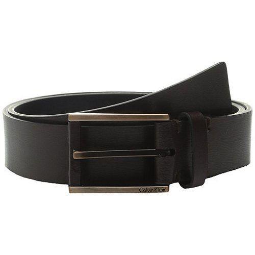 【CK】2016男時尚皮革包裹金屬扣深棕色皮帶(預購)