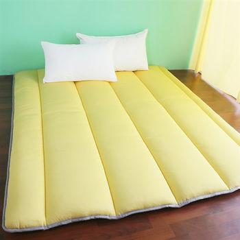 【契斯特】超涼感冰晶絲日式床墊-雙人檸檬草