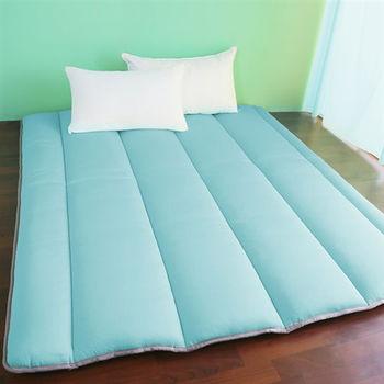 【契斯特】超涼感冰晶絲日式床墊-雙人糖果藍
