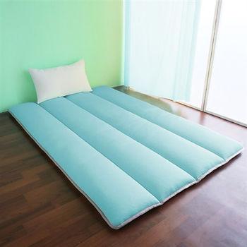 【契斯特】超涼感冰晶絲日式床墊-單人加大糖果藍