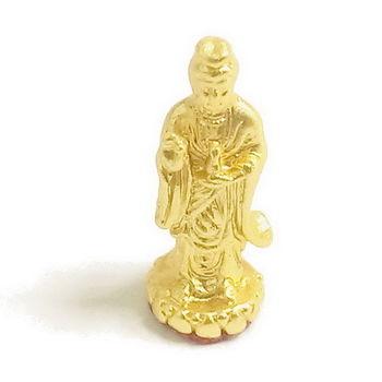 【十相自在】2.6公分 小佛像/法像-金黃色(觀世音菩薩)