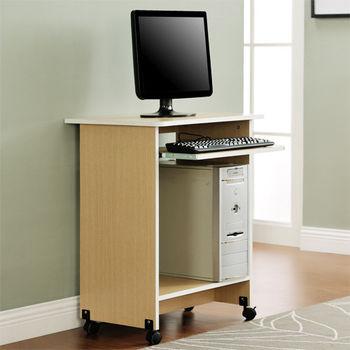 【咱的厝】DIY輕巧附鍵盤架電腦桌/工作桌/書桌(白橡色)