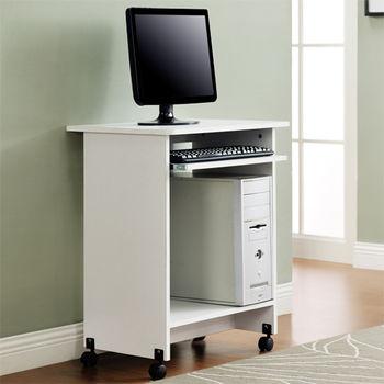 【咱的厝】DIY輕巧附鍵盤架電腦桌/工作桌/書桌(白色)