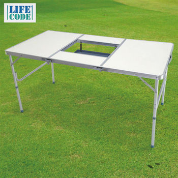 【LIFECODE】BBQ鋁合金折疊燒烤桌/折疊桌/烤肉桌
