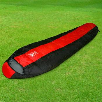 【APC】巴掌大超輕量羽絨睡袋(防潑水)-超輕750公克-紅黑色