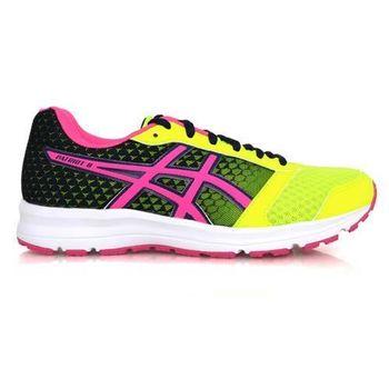【ASICS】PATRIOT 8 女慢跑鞋- 慢跑 訓練 亞瑟士 螢光綠桃紅丈青