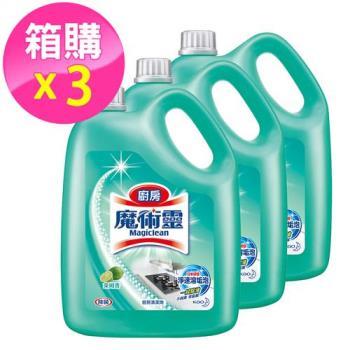 魔術靈 廚房清潔劑 桶裝萊姆香3800ml(3入/箱)