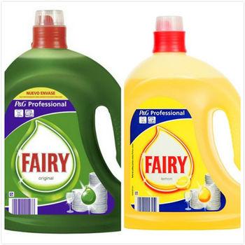 【原裝進口】德國 Fairy 洗碗精(原始香味/2500ml)*2+(檸檬清香/2500ml)*2