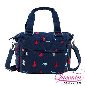 DF Queenin - 時尚魅力俏皮貓咪手提斜背包-共3色