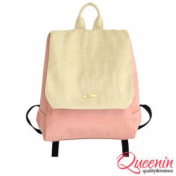 DF Queenin日韓 - 日系氣質女專屬皮革式後背包-共3色